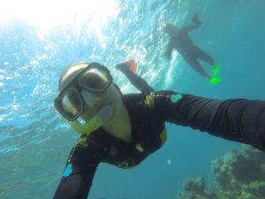 Milnay snorkeling the Great Barrier Reef