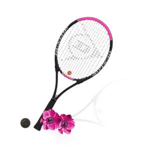 Dunlop racket and ball