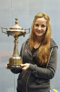 Milnay posing with trophy
