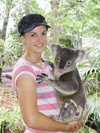 Milnay with Koala Bear in Australia