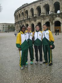 Milnay posing at the Coliseum in France